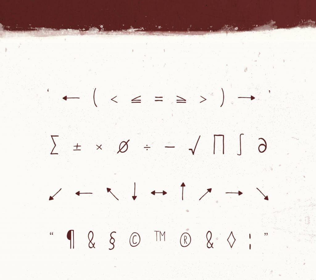 free font metafors symbols image
