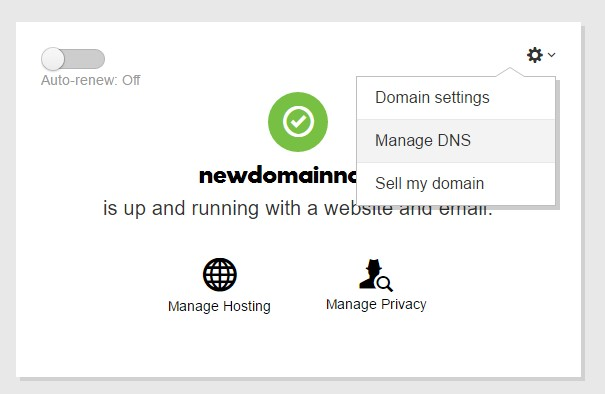 manage dns godaddy