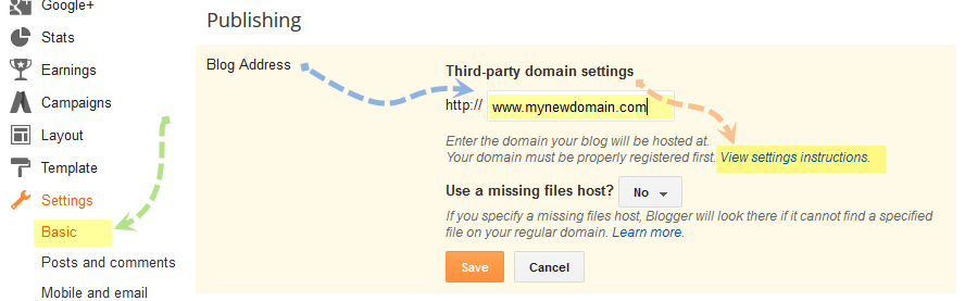 third-party-domain-setting-blogger