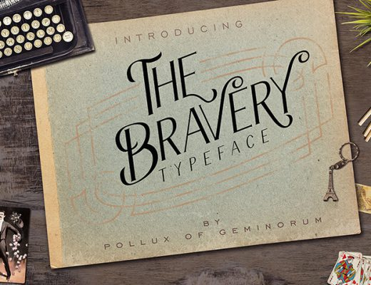 Free Display Font Bravery