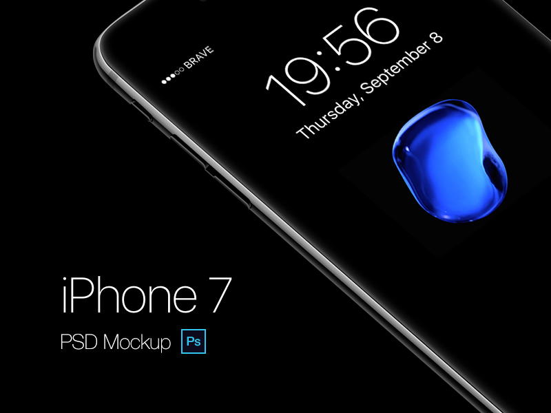 iPhone 7 free psd mockup