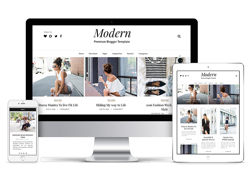 Modern grid Responsive design blogger Installation guide