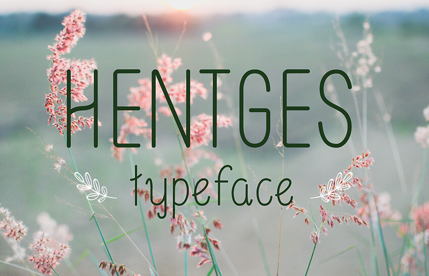 Hentges Free TypeFace Font