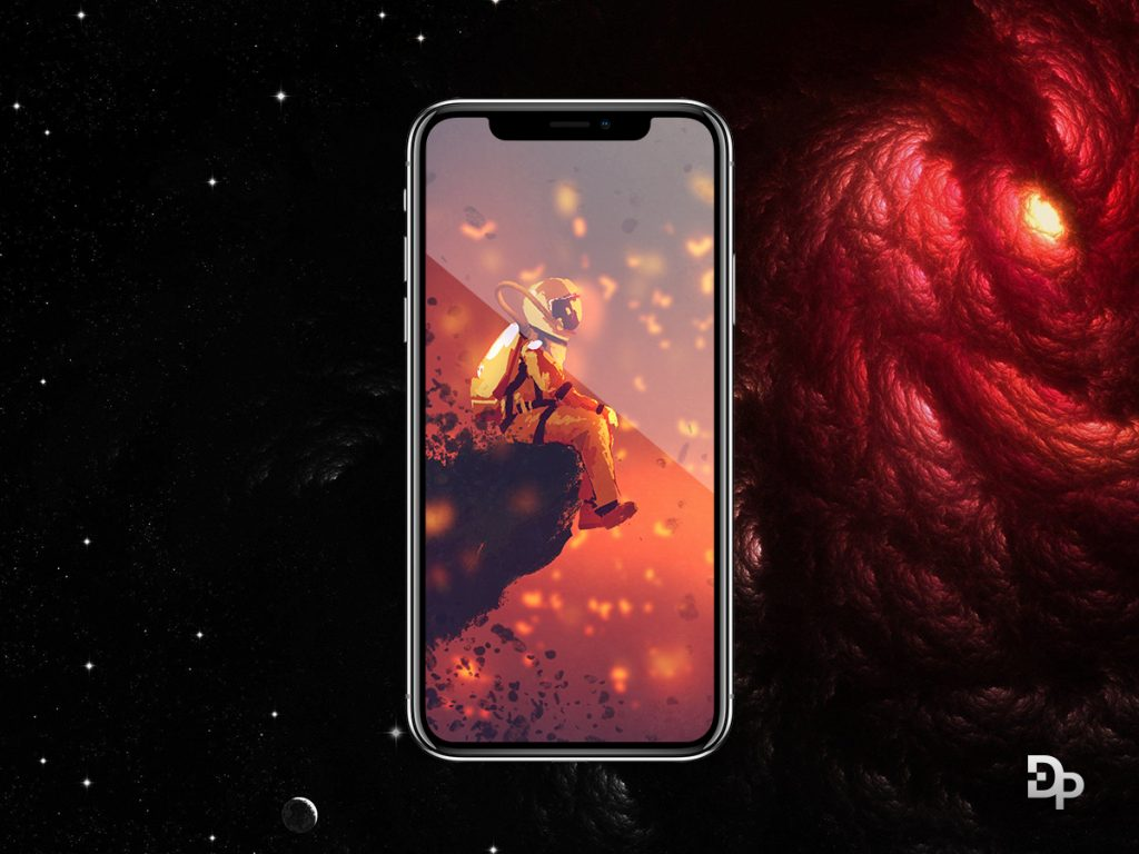 iPhone X PSD MOCKUP black color